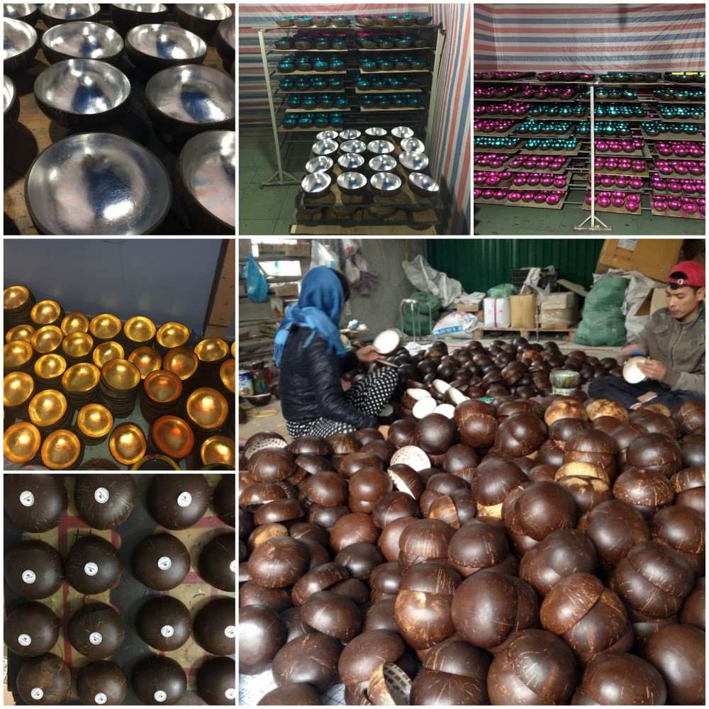 Coconut bowl manufacturer- Ha Thai lacquer