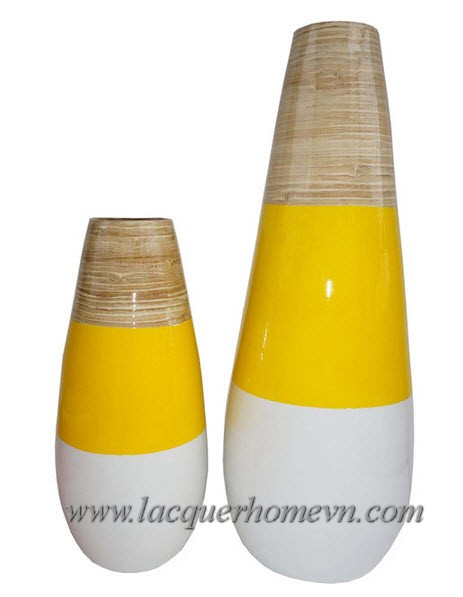 HT1085 Lọ tre sơn mài xuất khẩu Hạ Thái