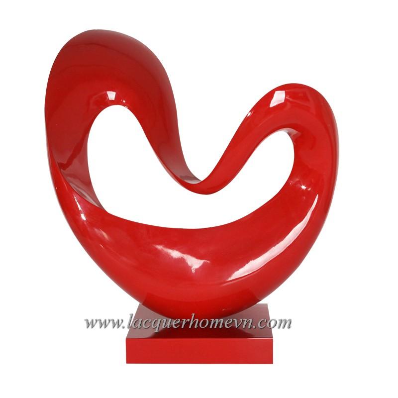 HT3606 Biểu tượng sơn mài trái tim, hàng dán bạc cao cấp