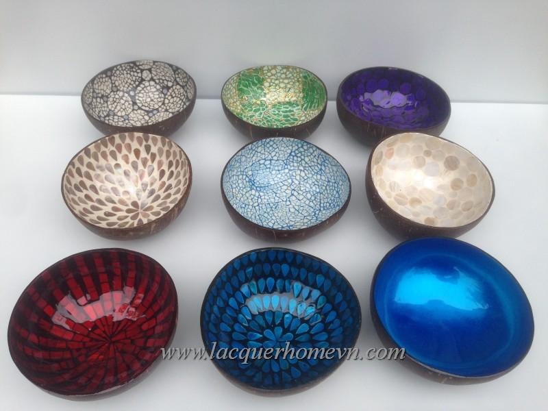 HT5739 Vietnam Lacquer Coconut Bowl For Wholesale