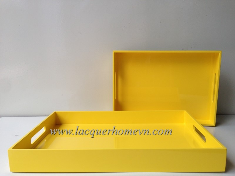 Resin lacquer serving tray