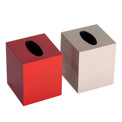 HT7802 MDF lacquer tissue holder box