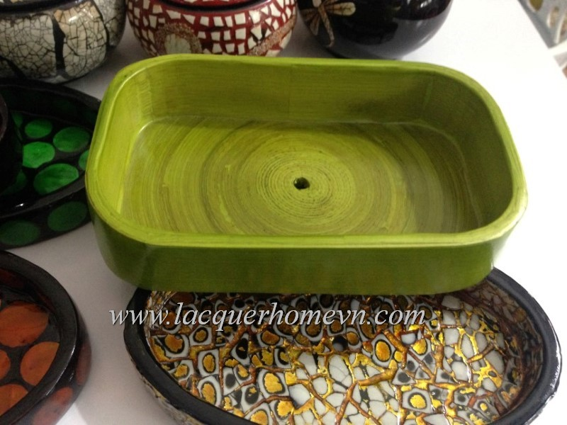 HT9450 Bamboo lacquer soap dish