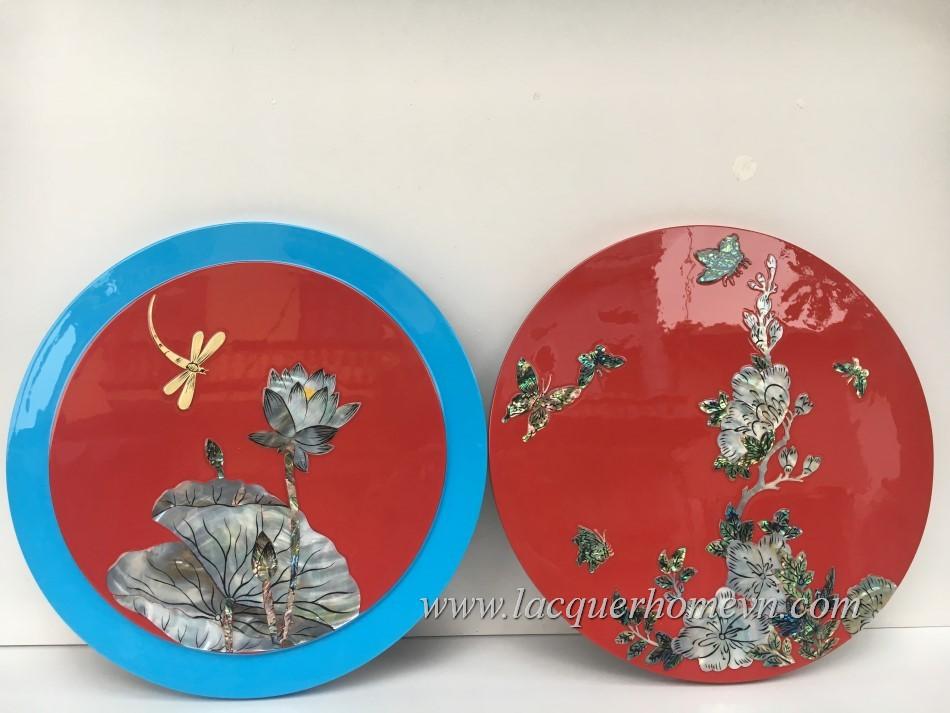 HT9967 Hộp mứt quà tặng khảm trai sơn mài