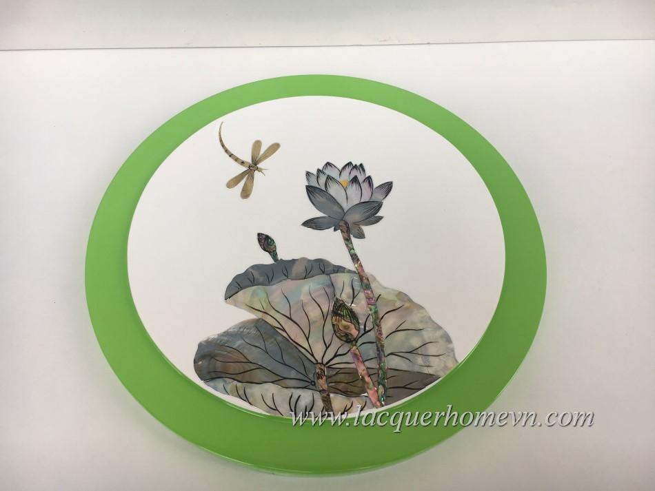 HT9970.1 - Hộp quà tết sơn mài khảm trai hoa sen cao cấp